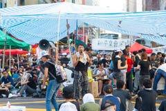 Protestation pro-démocratique en Hong Kong 2014 Images libres de droits
