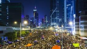 Protestation pro-démocratique en Hong Kong 2014 Photos stock