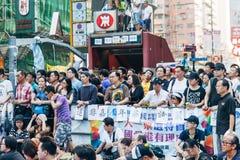 Protestation pro-démocratique en Hong Kong 2014 Image libre de droits