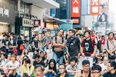 Protestation pro-démocratique en Hong Kong 2014 Photographie stock