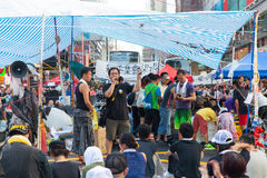 Protestation pro-démocratique en Hong Kong 2014 Photos libres de droits