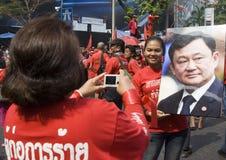 Protestation rouge de chemise - Bangkok Photographie stock