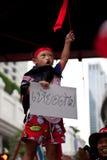 Protestation rouge de chemises à Bangkok Photographie stock libre de droits