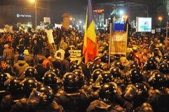 Protestation roumaine 19/01/2012 - 6 Photo libre de droits