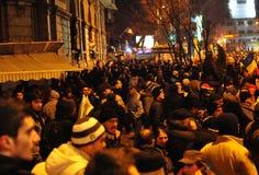 Protestation roumaine 19/01/2012 - 7 Image libre de droits