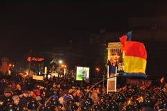Protestation roumaine 19/01/2012 - 8 Photo libre de droits