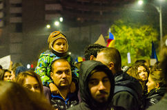 Protestation roumaine 05/11/2015 Image stock