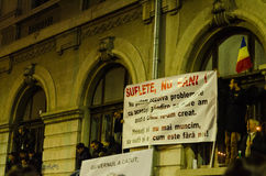 Protestation roumaine 05/11/2015 Photos stock