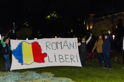 Protestation roumaine 05/11/2015 Images stock