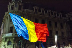 Protestation roumaine 09/11/2015 Image stock