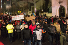 Protestation roumaine 29/01/2017 Images libres de droits