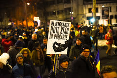 Protestation roumaine 29/01/2017 Photo stock