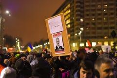 Protestation roumaine 29/01/2017 Photos stock