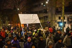 Protestation roumaine 29/01/2017 Photo libre de droits