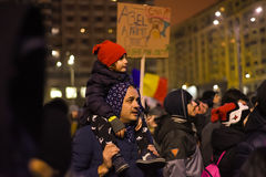 Protestation roumaine 29/01/2017 Photos libres de droits