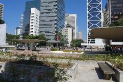 protestation sur l'avenue de Sao Paulo photographie stock