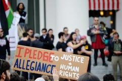 Protestation Tallahassee, la Floride d'Anti-atout Photographie stock
