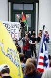 Protestation Tallahassee, la Floride d'Anti-atout Image libre de droits