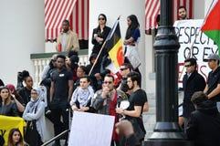 Protestation Tallahassee, la Floride d'Anti-atout Images libres de droits