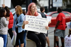 Protestation Tallahassee, la Floride d'Anti-atout Photo libre de droits