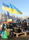 Protestations à Kiev. Ukraine Images libres de droits