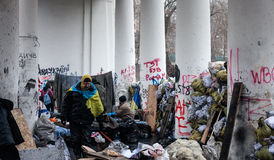 Protestations anti-gouvernement au centre de Kiev Photographie stock