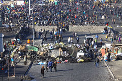 Protestations anti-gouvernement dans Kyiv, Ukraine Images libres de droits