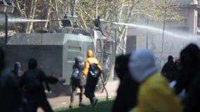 Protestations au Chili banque de vidéos
