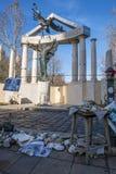 Protestations au monument Photos stock