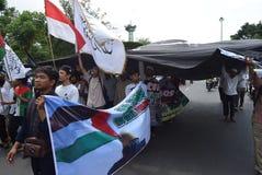 Protestations au président de l'atout Images libres de droits