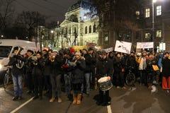 Protestations d'étudiant contre l'austérité Image libre de droits