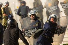 Protestations d'anarchiste à Athènes, Grèce Image libre de droits