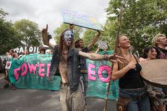 Protestations de Balcombe Fracking Image stock