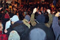 Protestations de Bucarest - 19 janvier 2012 - 5 Photos stock