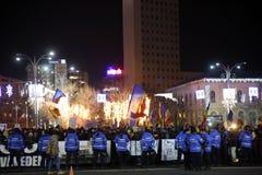 Protestations de Bucarest, Roumanie photos libres de droits
