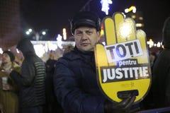 Protestations de Bucarest, Roumanie photographie stock libre de droits