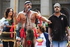 Protestations de jour d'Australie de jour d'invasion à Melbourne Image libre de droits