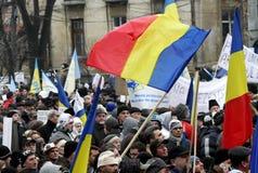 Protestations de la Roumanie Photographie stock libre de droits
