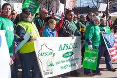 Protestations de Madison le Wisconsin I Image libre de droits