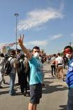 Protestations de parc de Gezi à Istanbul photographie stock