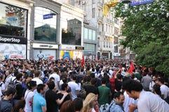 Protestations de parc de Gezi à Istanbul Image stock