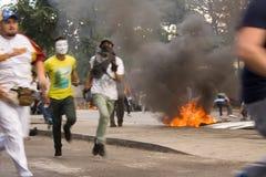 Protestations de Velezuelan Image libre de droits