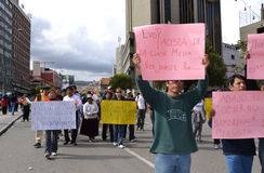 Protestations en Bolivie Photographie stock