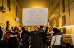 Protestations en Roumanie Photo stock