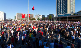 Protestations en Turquie Photo libre de droits