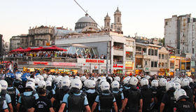 Protestations en Turquie Image stock