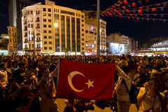 Protestations en Turquie Photographie stock