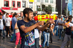 Protestations en Turquie Image libre de droits