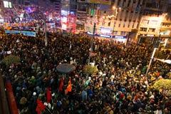 Protestations en Turquie Photo stock