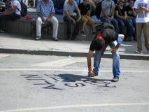 Protestations et événements de parc de Taksim Gezi Texte d'endroit de place de Taksim Image libre de droits